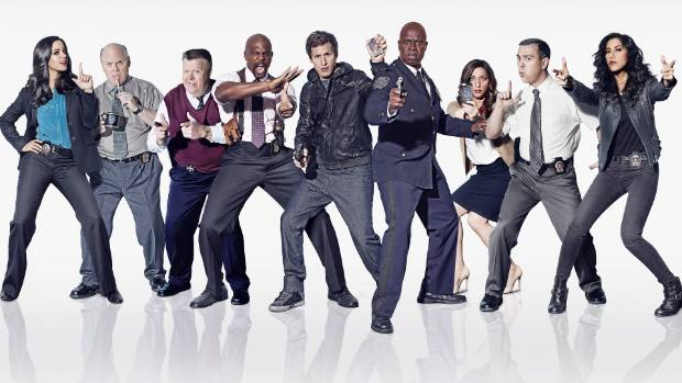 The cast of American cop comedy Brooklyn Nine-Nine.