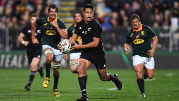 Rieko Ioane had a field day for the All Blacks in their record-breaking win over the Springboks on Saturday night