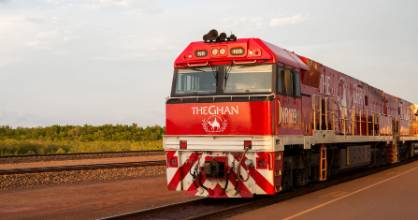 The Ghan is named for Australia's early camel drivers, who were believed to be from Afghanistan.