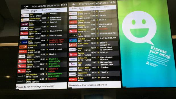 About 27 domestic and international flights were cancelled over the weekend