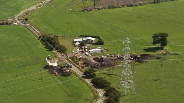 The pipeline which connects Marsden Point Oil Refinery and Auckland Airport was damaged on a farm near Ruakaka.