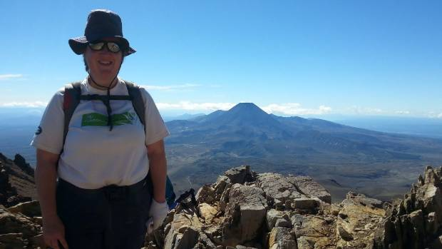 Debra Ridgway gets some training in on the Tongariro Crossing ahead of her trip to Mt Kilimanjaro.