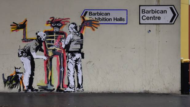 New Banksy murals appear in tunnel near Barbican Centre in London