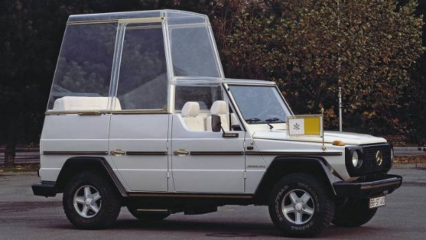 G-Wagen is the most famous of Mercedes-Benz's Popemobiles.
