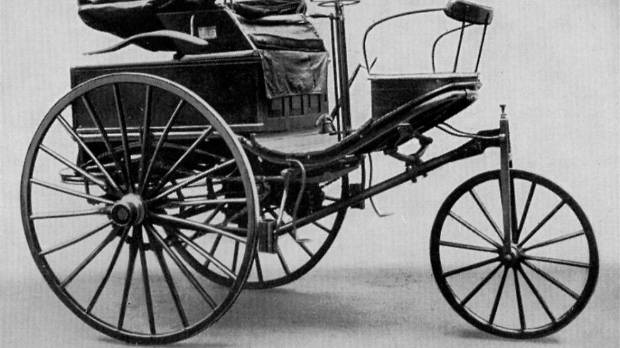 "Benz's first ""car"". Promptly stolen by Bertha and hotted-up (well, she added brake pads)."