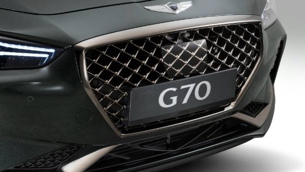 Distinctive front of the new Genesis G70.