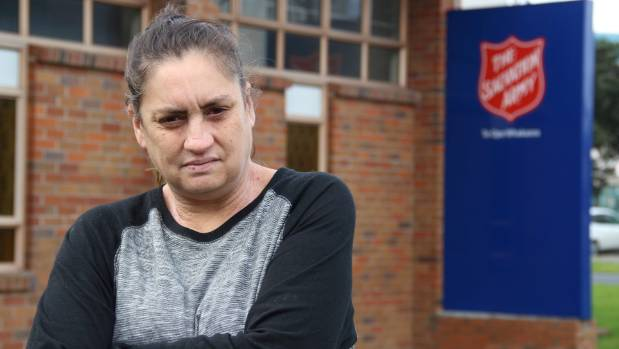 Lynley Beazley says she would not be able to survive without food parcels from The Salvation Army.