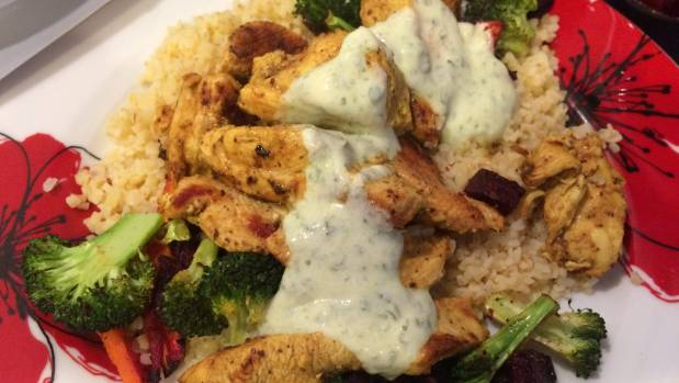 Spiced chicken created using 'My Food Bag'.