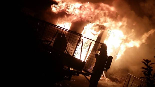Firefighters were called to the scene about 4.30am.