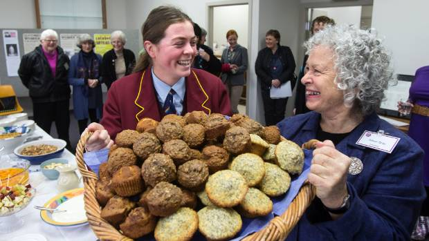 National Council of Women South Canterbury branch president Alison Gray (right) and Grace Moore on Tuesday prepare to ...