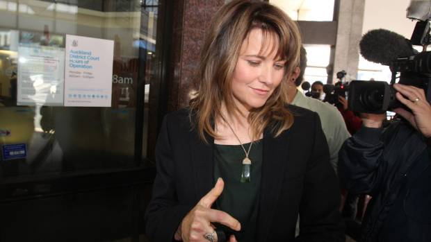 Lucy Lawless outside the Auckland District Court, after an appearance arising from her arrest during a Greenpeace ...