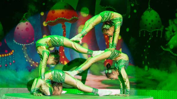 The contortionists from Hebei Acrobatic Trupe and magic group are part of the Cirque Grande.