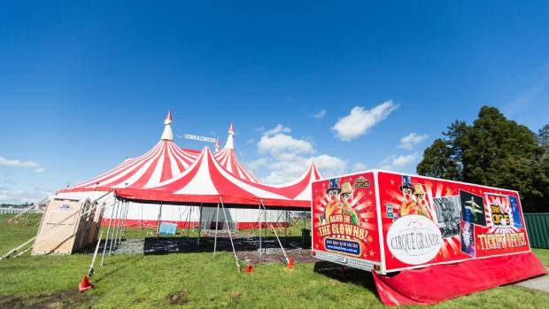 Cirque Grande circus is in town for the rest of the week at the Pukekura Raceway.