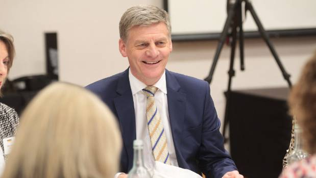 Prime Minister Bill English has lunch at the Clubs of Marlborough, in Blenheim, organised by the Marlborough Chamber of ...