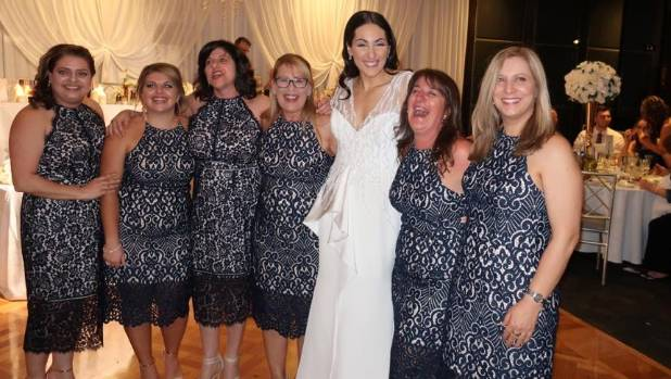 Six women turn up to friend's wedding in same dress