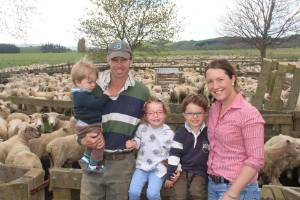Simon and Lou White with their children Millie, 4, George, 3, and Oscar, 1.