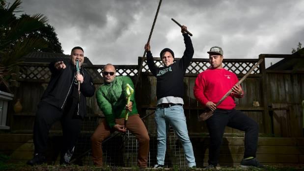 Maaka Pohatu, Francis Kora, Matariki Whatarau and James Tito, forming the Modern Māori Quartet.