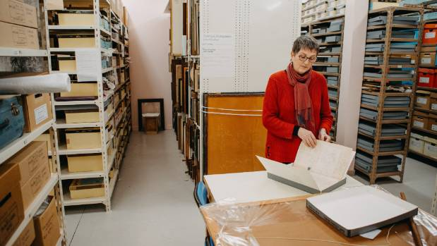 Archives manager Megan Ross goes through the massive collection at the Marlborough Museum.