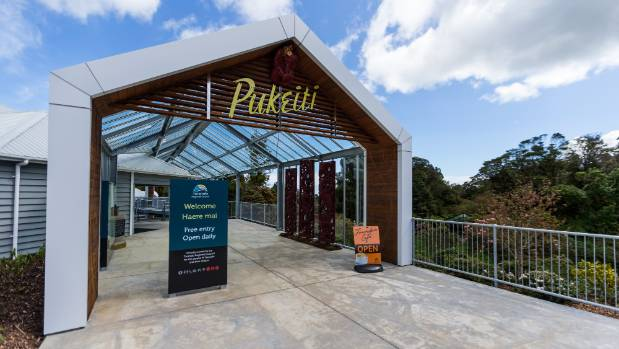 """Haere mai"" - the Pukeiti entrance is bright and welcoming."