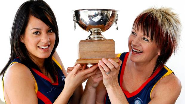 Bridget Gane, right, and Mhicca King shared the Marlborough Express Player of the Year trophy in 2010.
