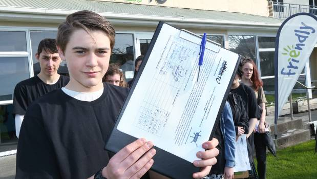Sam Balloch was one of dozens of volunteers seeking signatures for a petition to keep Number 10 One Stop Shop and ...