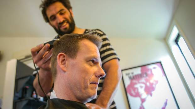 All Black Sam Whitelock shaves the head of Chalky Carr in a bid to raise $100,000 for Isla Lunn, who lost her mother to ...