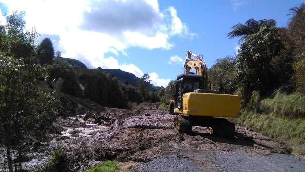 A slip, estimated between 10 and 20 hectares, has fallen from private farm land in Waitomo.