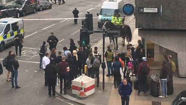 British police investigate suspicious package in London's financial district