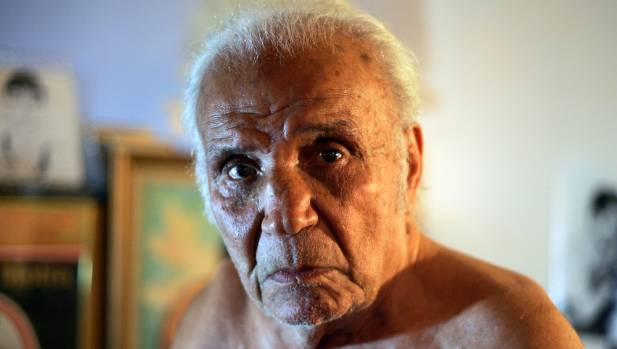 Former middleweight boxing champion Jake LaMotta pictured in 2009.