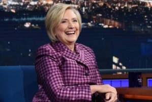 Hillary Clinton didn't hold back on the Late Show with Stephen Colbert.