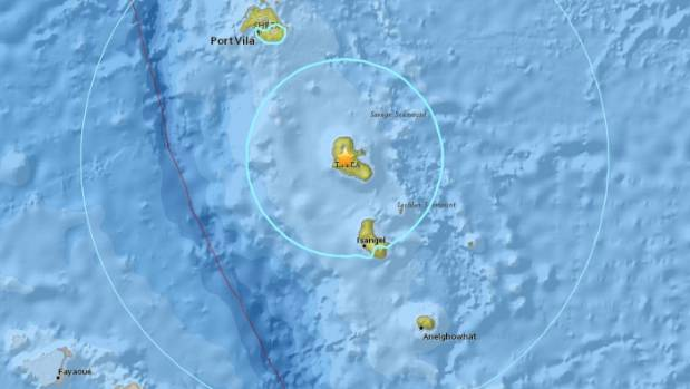 4 magnitude natural disaster  off Vanuatu