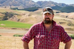 Hawarden farmer Dan Hodgen pictured during the drought. He is confident of a good spring this year.
