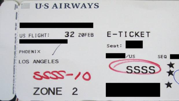 Why you never want the code 'SSSS' printed on your boarding pass