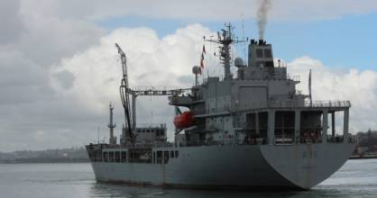 Tanker HMNZS Endeavour is back on standby because of Auckland's ground fuel re-supply efforts, Judith Collins said.