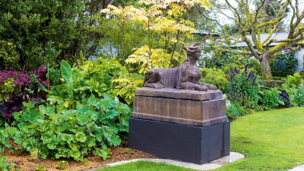One of two 'lady sphinxes' welcomes visitors.