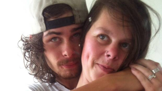 Jacob Gray with his partner, Amy. Gray lost his life in the August 30 crash.