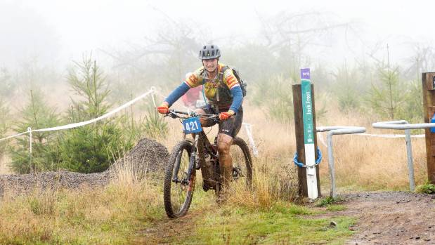 Raewyn Knight during the Manawatū Mountain Bike Club's Kahuterawa Classic.