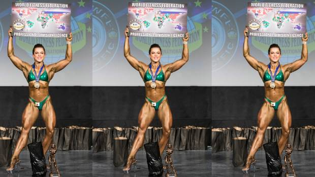 Baker won the amateur women's superbody class and came second in the pro class at the competition.