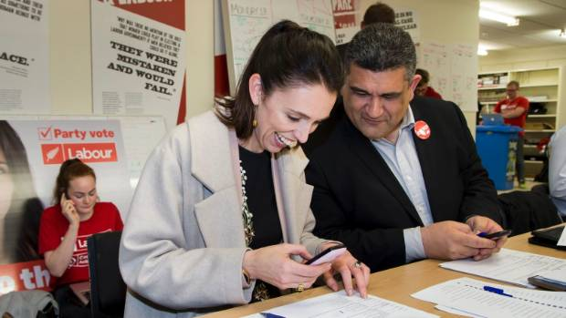 Earlier on Thursday, Ardern visited Labour's phone bank in Wellington CBD with Rongotai candidate Paul Eagle.