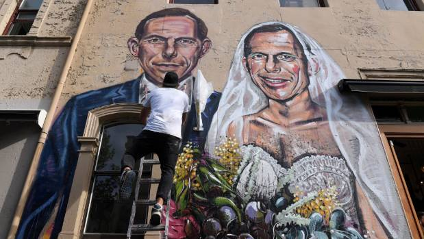Gay marriage supporter headbutts Abbott