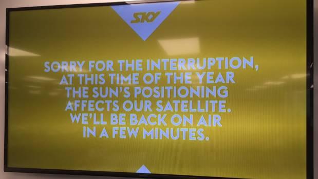 That bizarre SKY message.