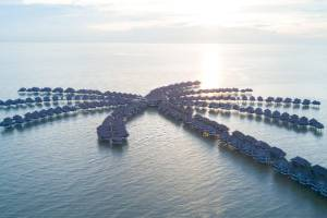 Avani Sepang Goldcoast Resort is one of the biggest overwater hotels in the world.