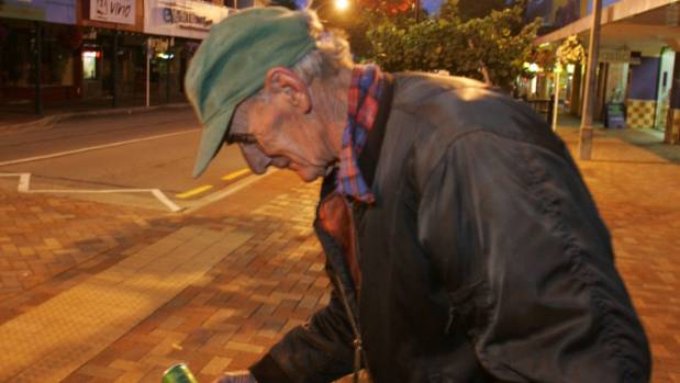 Ron Brinsdon, pictured in 2005, on his dawn can collection run in Hardy St. He was remembered as an intelligent and ...