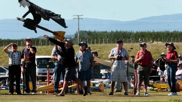 The Palmerston North Aeroneers Model Flying Club take to the skies above Colyton, regularly hosting open days.