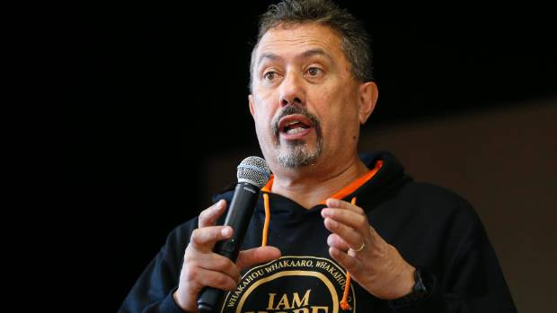 Mike King speaks to Timaru Girls' High pupils in July. The health board is looking to build on the momentum created by ...