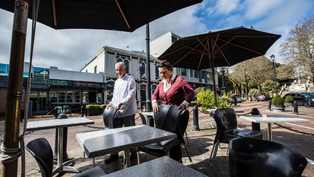 Kerry and Garry Ford of Ford's restaurant and bar in upper Trafalgar Street, which will become a pedestrian zone over ...