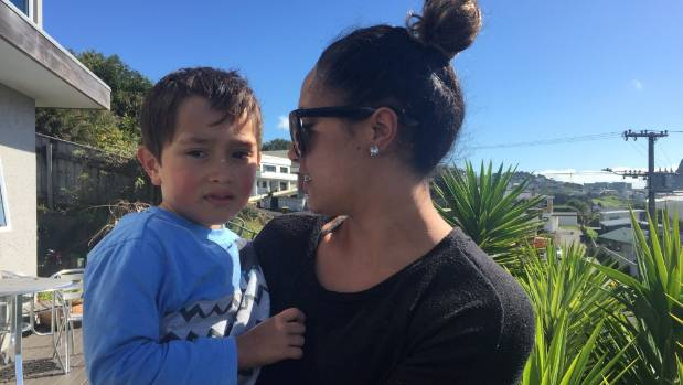 Billie Moore, 25, was held up taking Carlos, 4, to kindy on Thursday when she discovered someone had slashed her tyres.