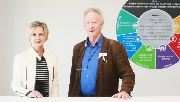 Waikato DHB Women's Health Commissioner Tanya Maloney and chief medical officer Dr Tom Watson.