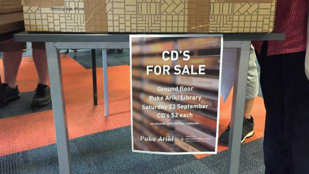 New Plymouth's Puke Ariki library is selling its entire CD collection due to a downturn in borrowing.