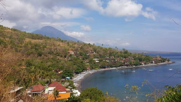 Mt Agung from near where visitor Nicole Saunders has been staying.